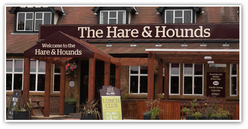 Exterior of The Hare & Hounds, a typical Orchid Pub