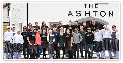 Team shot of the staff at The Ashton in Bristol, a Premium Country Pub standing outside the pub