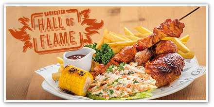 Hall of Flame dishes created just for you