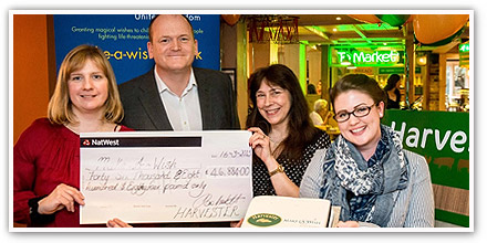 Harvester Help Grant Magical Wishes with Charity Donation