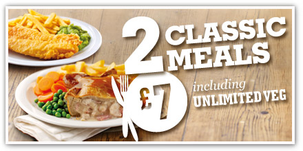 Two pub classics for just £7