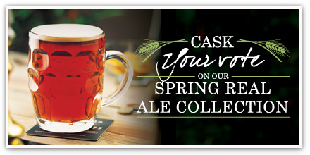 Vote for your favourite Spring Real Ale with Ember