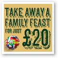 Take away a family feast for just £20 at Harvester!
