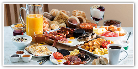 Join us for our unlimited breakfast