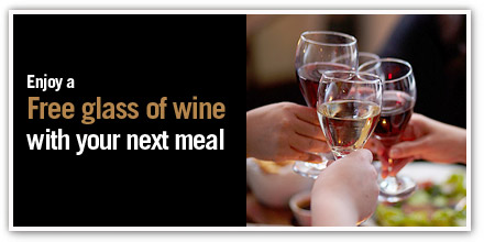 Enjoy a free glass of wine with your next meal at miller amp carter