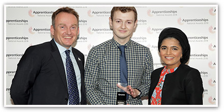 Sky's the limit for award winning apprentice