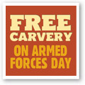 Free carvery on Armed Forces Day